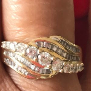 Jewelry - 14 K Gold w/ over one total carat weight diamonds